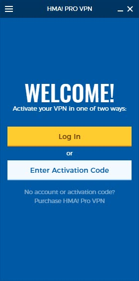 hma vpn activation code