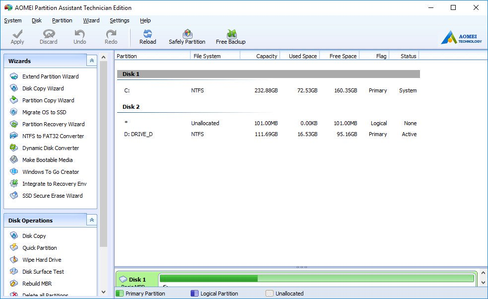AOMEI Partition Assistant 8.8 + Crack [Latest]