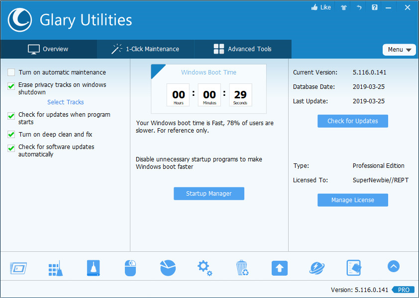 Glary Utilities keygen