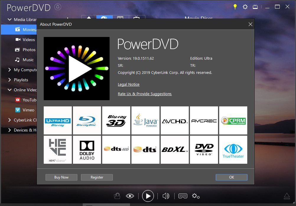 CyberLink PowerDVD Ultra Activated 20.0.1519.62 (Latest 2020)