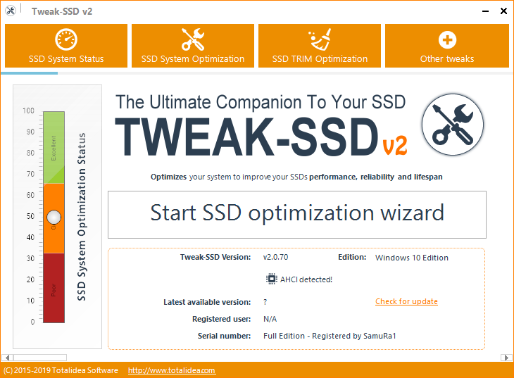 Tweak-SSD v2.0.70 + Cracked [Full Download]