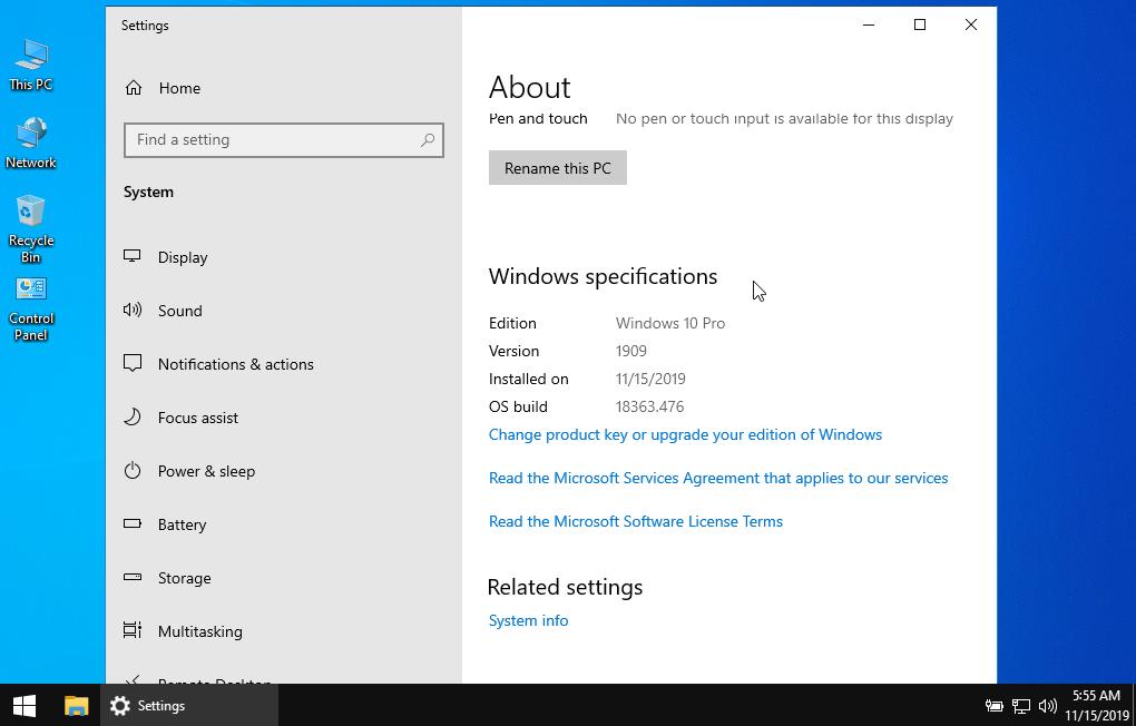 Windows 10 Pro 1909 LITE Edition x64 x86 Activated [Latest]