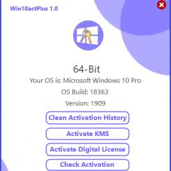 Win10actPlus v1.0 (Windows 10 Activator)